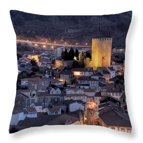 Castle Throw Pillow featuring the photograph Old Lamego by Paulo Monteiro