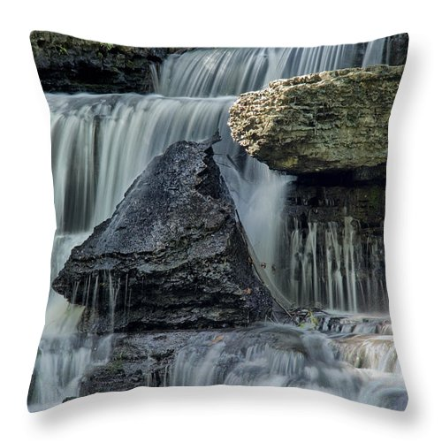 Old Stone Fort Throw Pillow featuring the photograph Old Stone Fort by Diana Powell