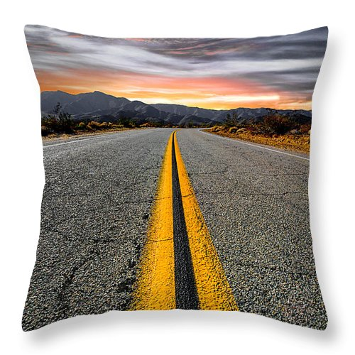 Desert Landscape Throw Pillow featuring the photograph On Our Way by Ryan Weddle