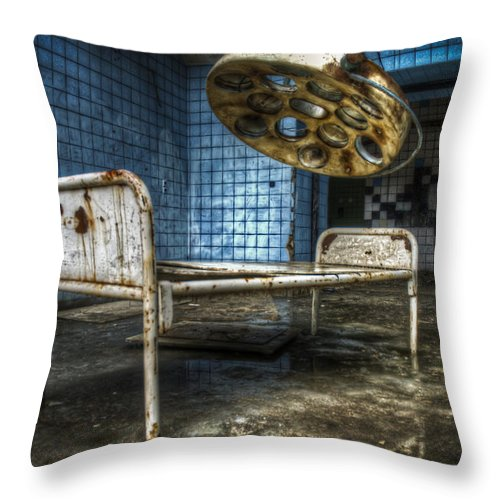 Beelitz Throw Pillow featuring the digital art Operation Time by Nathan Wright
