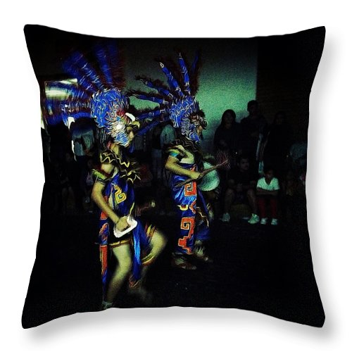 Our Lady Of Guadalupe Festival Throw Pillow featuring the photograph Our Lady Of Guadalupe Festival by Natasha Marco