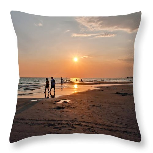 Beach Throw Pillow featuring the photograph Panama City Florida by Alex Grichenko