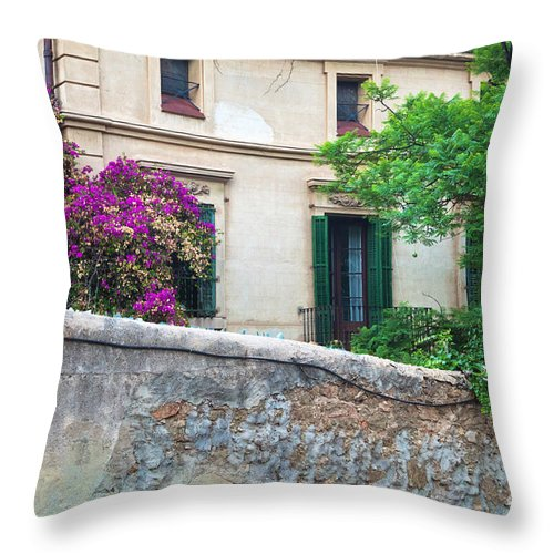 Guell Throw Pillow featuring the photograph Park Guell by Michal Bednarek