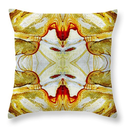 Abstract Throw Pillow featuring the photograph Patterns In Stone - 150 by Paul W Faust - Impressions of Light