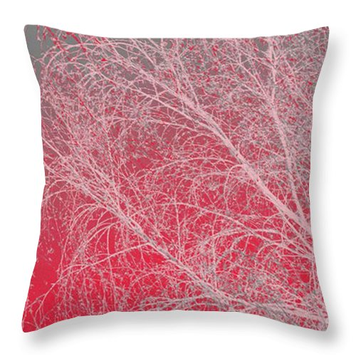 Pink Throw Pillow featuring the digital art Pink by Carol Lynch