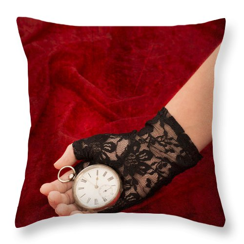 Girl Throw Pillow featuring the photograph Pocket Watch by Amanda Elwell