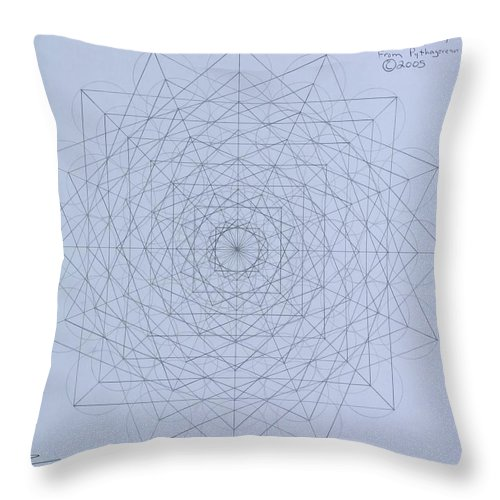 Jason Throw Pillow featuring the drawing Quantum Foam by Jason Padgett