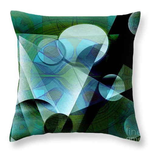 Digital Throw Pillow featuring the digital art Quest by Iris Gelbart