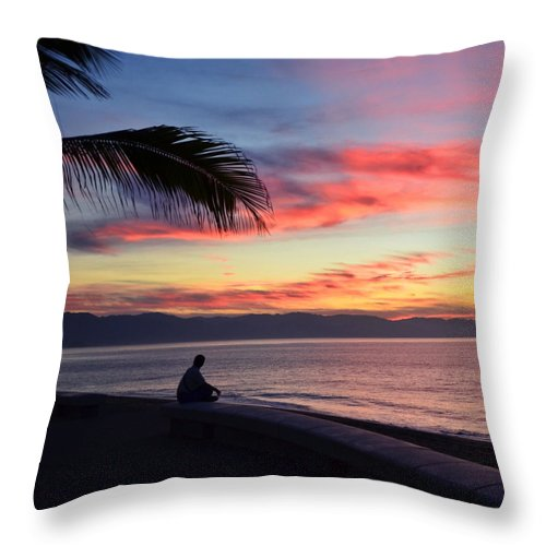 Sunset Throw Pillow featuring the photograph Quiet Contemplation by Natasha Marco