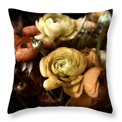 Flowers Throw Pillow featuring the photograph Ranunculus by Jessica Jenney