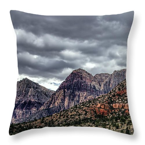 Red Rock Canyon Throw Pillow featuring the photograph Red Rock Canyon - Las Vegas Nevada by Jon Berghoff