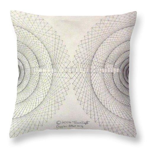 Jason Throw Pillow featuring the drawing Relativity by Jason Padgett