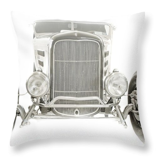 Classic Car Throw Pillow featuring the photograph Roadster by Ken Marsh