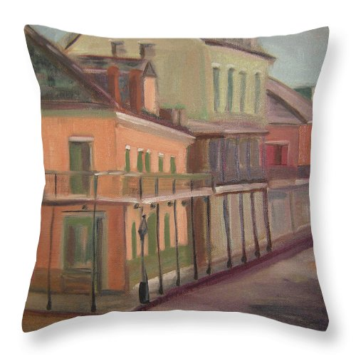 New Orleans Throw Pillow featuring the painting Royal Street II by Lilibeth Andre