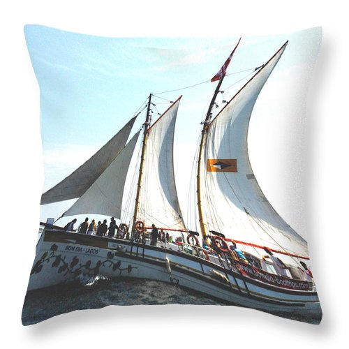 Macro Throw Pillow featuring the photograph A Rolling Sea by Dave Byrne