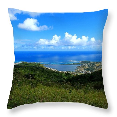 Saint-martin Throw Pillow featuring the photograph Saint-martin by James Markey