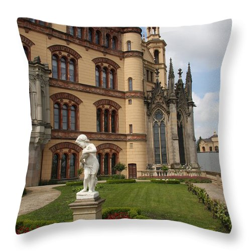 Schwerin Throw Pillow featuring the photograph Schwerin - Palace - Germany by Christiane Schulze Art And Photography