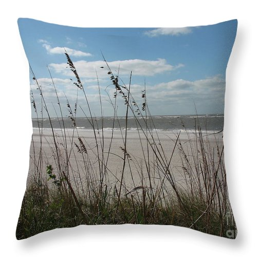 Seaside Throw Pillow featuring the photograph Seaside by Christiane Schulze Art And Photography
