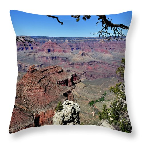Lipan Point Throw Pillow featuring the photograph South Rim Of The Grand Canyon by Thomas R Fletcher