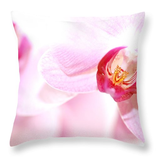 Anniversary Throw Pillow featuring the photograph Spa Flowers by Michal Bednarek