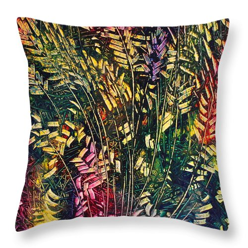 Contemporary Abstract Art Throw Pillow featuring the painting Springtime by Mark Beach