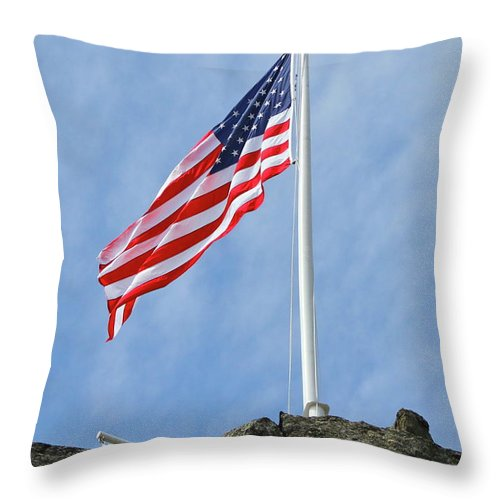 Flag Throw Pillow featuring the photograph Strength by Rick Monyahan
