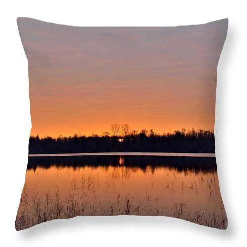 Sunrise Throw Pillow featuring the photograph Sunrise by Kevin Pugh