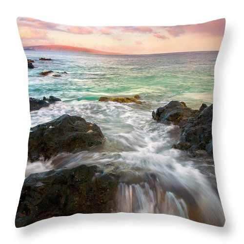 Sunrise Throw Pillow featuring the photograph Sunrise Surge by Mike Dawson