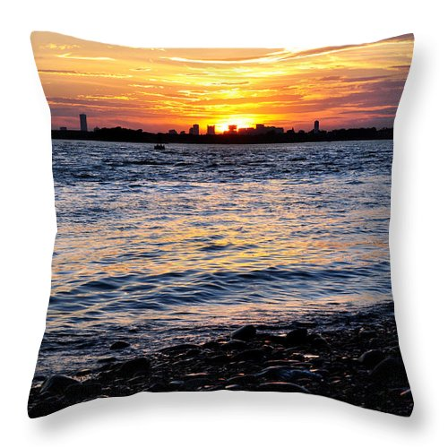 Hull Throw Pillow featuring the photograph Sunset Beauty by Joanne Brown