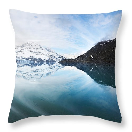 Scenics Throw Pillow featuring the photograph Tarr Inlet by Jo Ann Snover