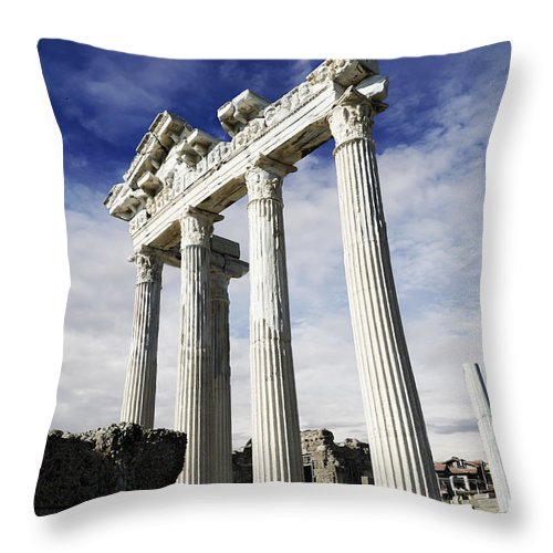 Turkey Throw Pillow featuring the photograph Temple Of Apollo In Side by Jelena Jovanovic