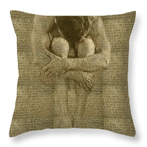 Nudes Throw Pillow featuring the photograph The Artist by Kurt Van Wagner