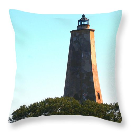 Lighthouse Throw Pillow featuring the photograph The Lighthouse by Nadine Rippelmeyer