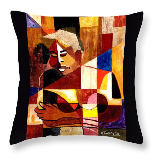 Everett Spruill Throw Pillow featuring the painting The Matriarch - Take 2 by Everett Spruill