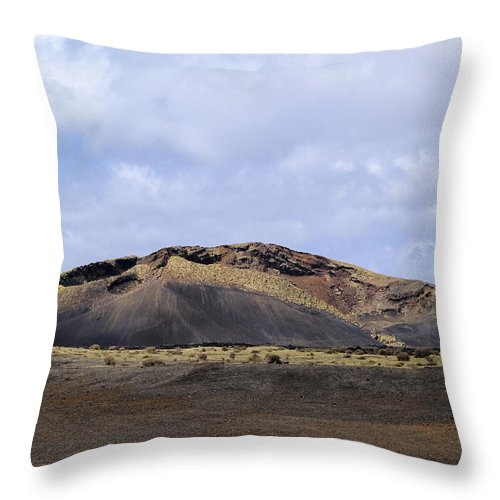 Lanzarote Throw Pillow featuring the photograph Timanfaya National Park by Karol Kozlowski