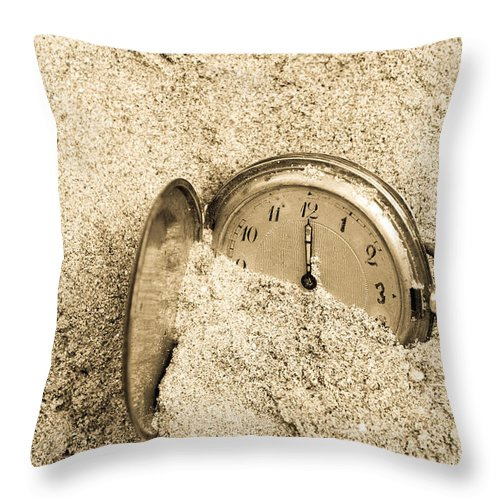 Aged Throw Pillow featuring the photograph Time by Viktor Pravdica