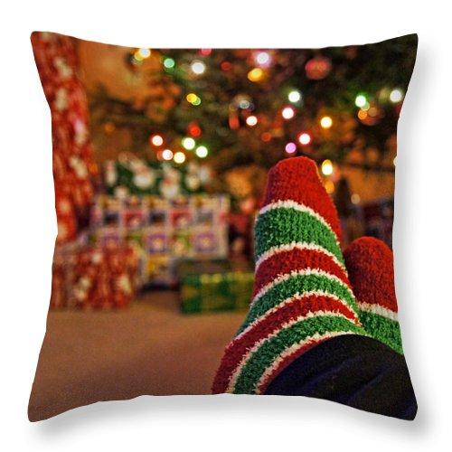 Christmas Throw Pillow featuring the photograph Tis The Season by Cricket Hackmann