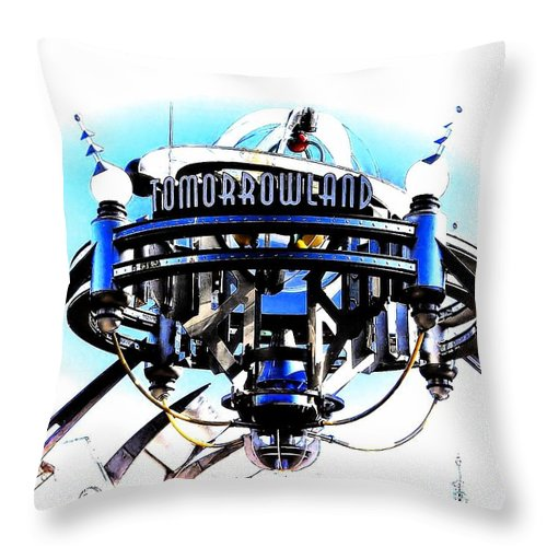 Tomorrowland Throw Pillow featuring the photograph Tomorrowland by Joyce Baldassarre