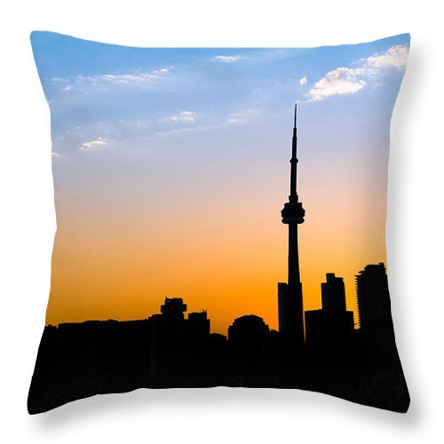Toronto Throw Pillow featuring the photograph Toronto Skyline by Sebastian Musial