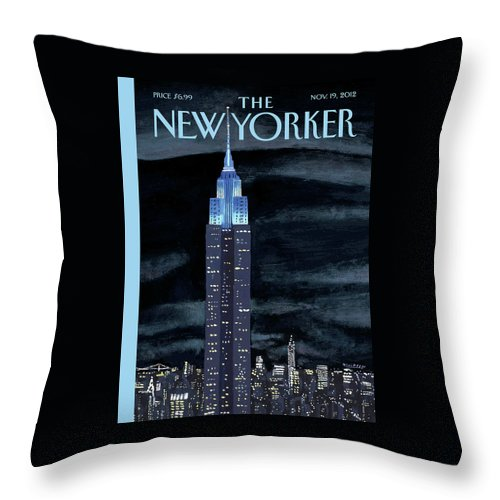 New York City Throw Pillow featuring the painting New Yorker November 19th, 2012 by Mark Ulriksen
