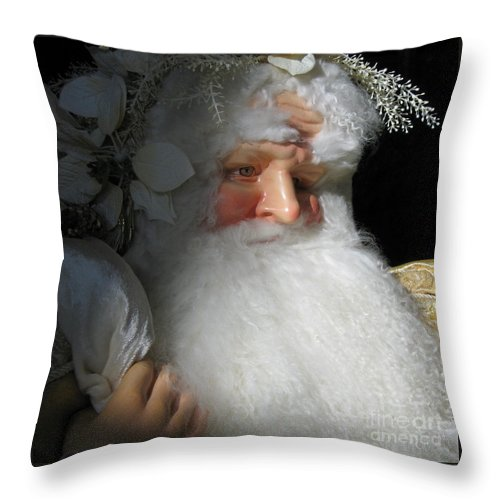 Christmas Throw Pillow featuring the photograph Upscale Father Christmas by Ann Horn