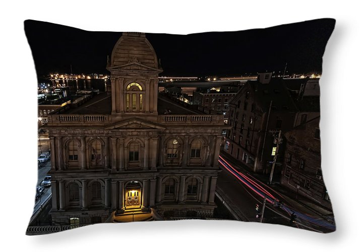 Architecture Throw Pillow featuring the photograph U.s. Customs House by Richard Bean