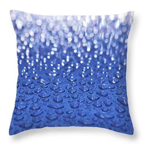 Water Throw Pillow featuring the photograph Water Drops by Tony Cordoza