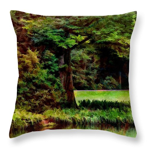 Nature Throw Pillow featuring the photograph Water's Edge by Joyce Baldassarre