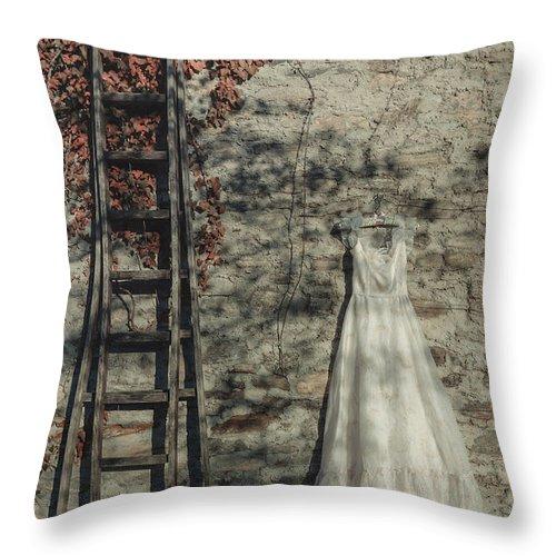 Dress Throw Pillow featuring the photograph Wedding Dress by Joana Kruse