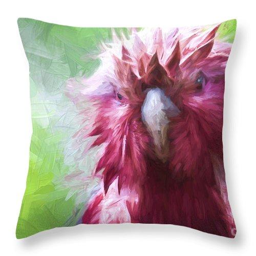 Galah Throw Pillow featuring the photograph Wet galah by Sheila Smart Fine Art Photography