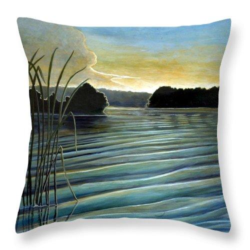 Rick Huotari Throw Pillow featuring the painting What A Beautifull Morning by Rick Huotari