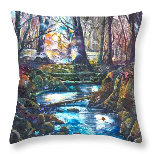 Art Throw Pillow featuring the painting Windlestrae Bek by Patricia Allingham Carlson