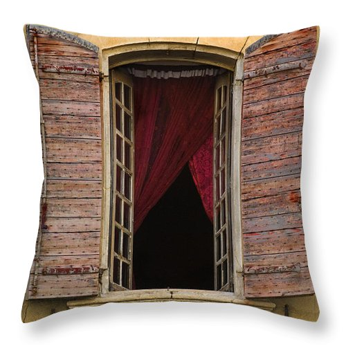Window Throw Pillow featuring the photograph Window, France by John Shaw