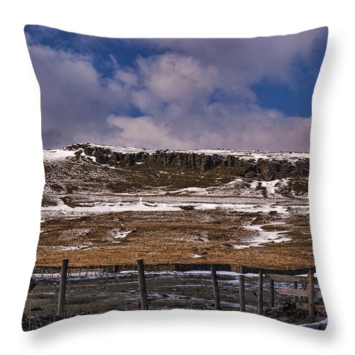Winter Throw Pillow featuring the photograph Winter In The Dales by Trevor Kersley